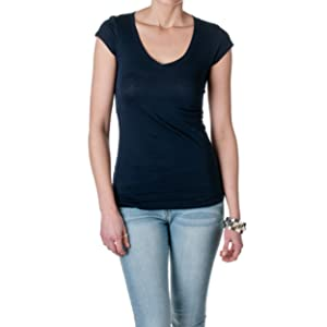 Active Basic Women's Short Sleeve V-Neck Tee, G Navy