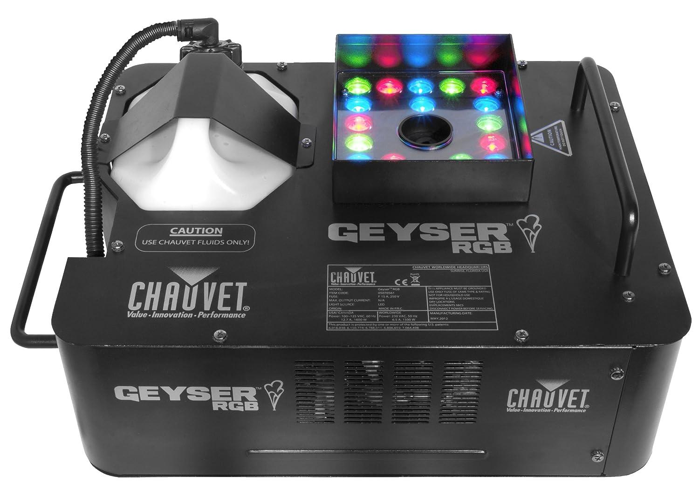 Amazon.com: Chauvet Geyser RGB Fogger and LED Effects Light: Musical on balloons machine, sound machine, fog machine, painting machine, paving machine, snow machine,