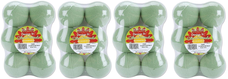 6-Pack Floracraft Dry Foam Ball Green 3-Inch