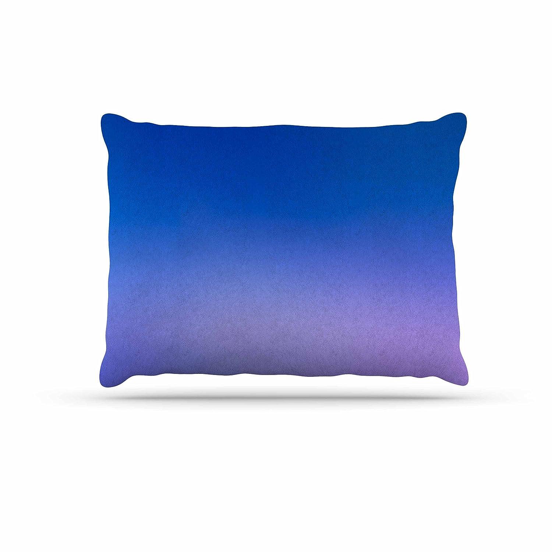 Kess InHouse Malia Shields Aura Series  5  bluee Purple Fleece Dog Bed, 30 by 40