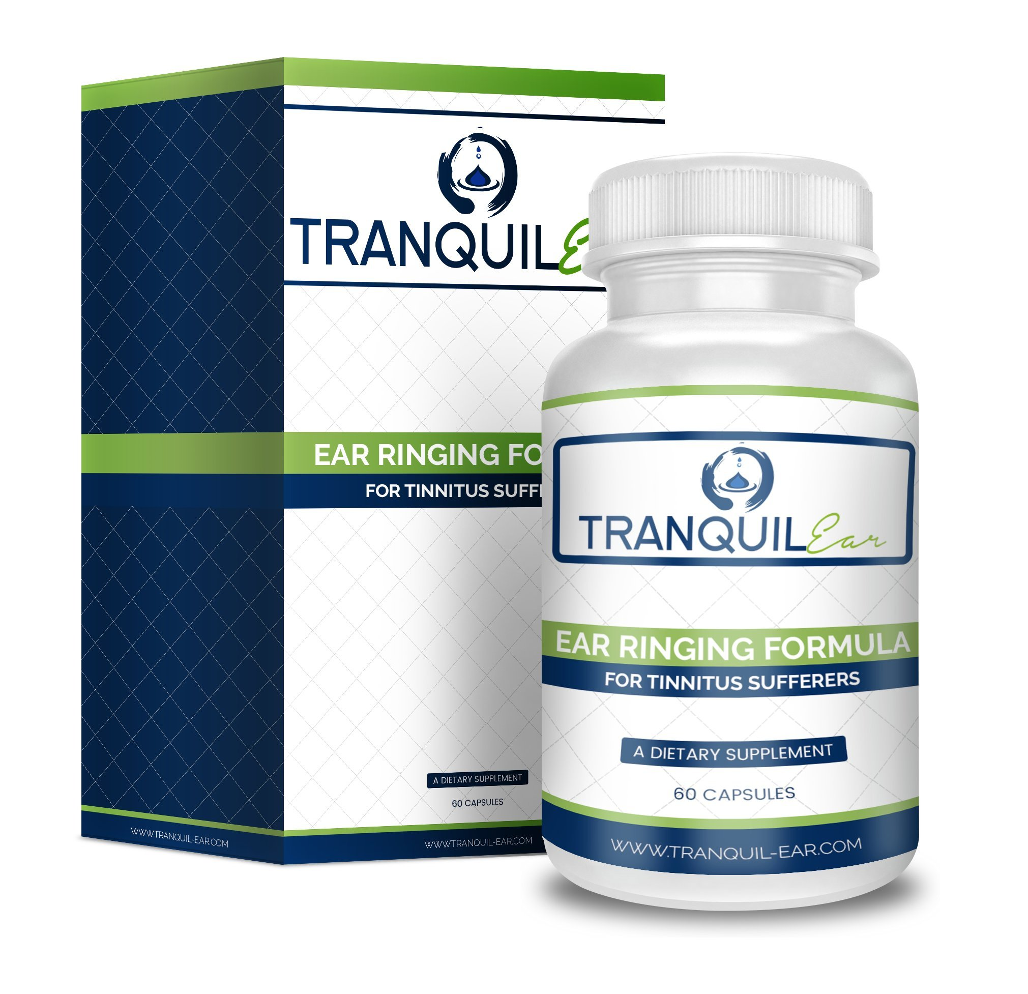 Tranquil Ear - Potent Tinnitus Relief Supplement (60 Capsules) - Natural Tinnitus Treatment and Ear Ringing Formula - Help Stop Ringing Ears Once And For All by Tranquil Ear