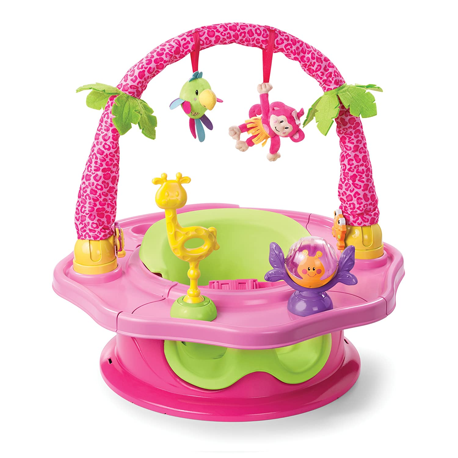 Summer Infant 3-Stage SuperSeat Deluxe Giggles Island: Positioner, Activity Seat, and Booster, Girl SUMKJ 13305