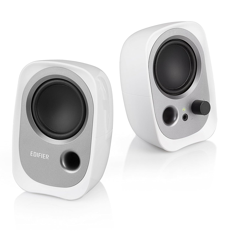 Edifier R12U BK USB-Lautsprecherset (Bassreflex-Port, Kopfhö reranschluss, integrierter Lautstä rkeregler) schwarz R12U-BLACK