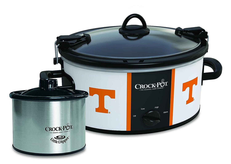 Crock-Pot Tennessee Volunteers Collegiate Cook & Carry Slow Cooker with Bonus 16-ounce Little Dipper Food Warmer