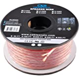C&E 100 Feet 14AWG Enhanced Loud Oxygen-Free Copper Speaker Wire Cable, CNE62761