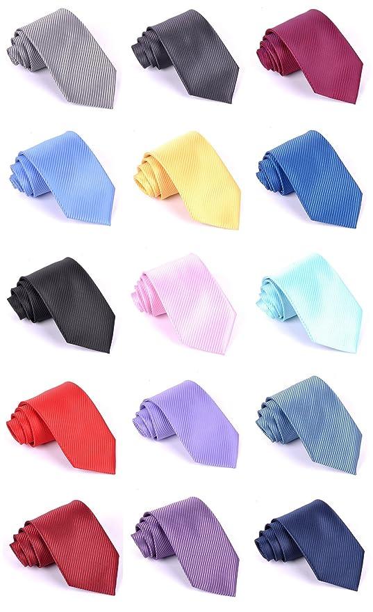 Elviros corbata ancho unicolor hombres para negocios fiestas bodas 8 cm 7sI7Wqs