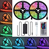 Led Strip Lights, JR INTL 65.6ft/20M RGB LED Light Strip 5050 LED Tape Lights, Color Changing LED Strip Lights with…