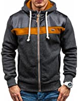 Modfine Men's Long Sleeve Zip-Up Casual Fleece Hoodie Coat Sweatshirt Jacket