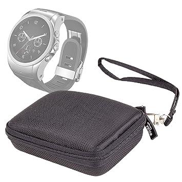 DURAGADGET - Funda de transporte rígida para reloj inteligente TomTom Runner 3, Samsung Gear Fit 2 y Suunto Kailash Watch, cremallera - DURAGADGET: ...