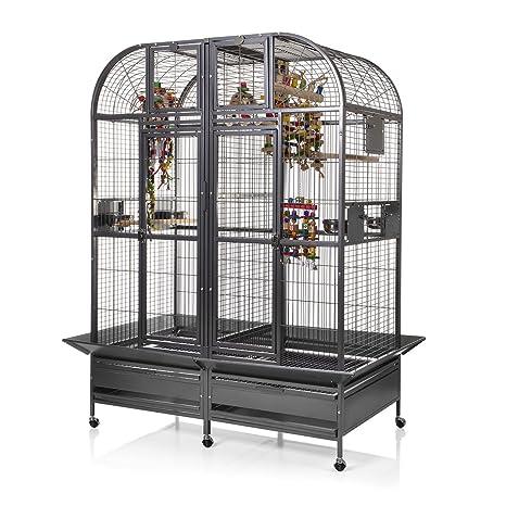 Parrot jaula con separador XXL Chicago - envejecido jaula ...
