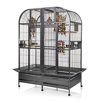 Montana Cages Papageienkäfig mit Trennwand XXL Chicago - Antik Käfig ...