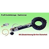Gas-Brenner schwarz kleiner Burner Balkon Camping Picknick 1-flammig ✔ eckig ✔ Grillen mit Gas ✔ CE-geprüft