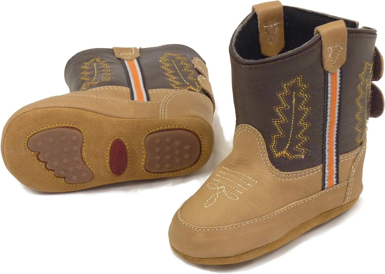 Westernwear-Shop Baby Leder-Cowboystiefel Westernstiefel Boy Baby-Westernstiefel Kinder-Westernstiefel Cowboy Boots f/ür Jungen Braun