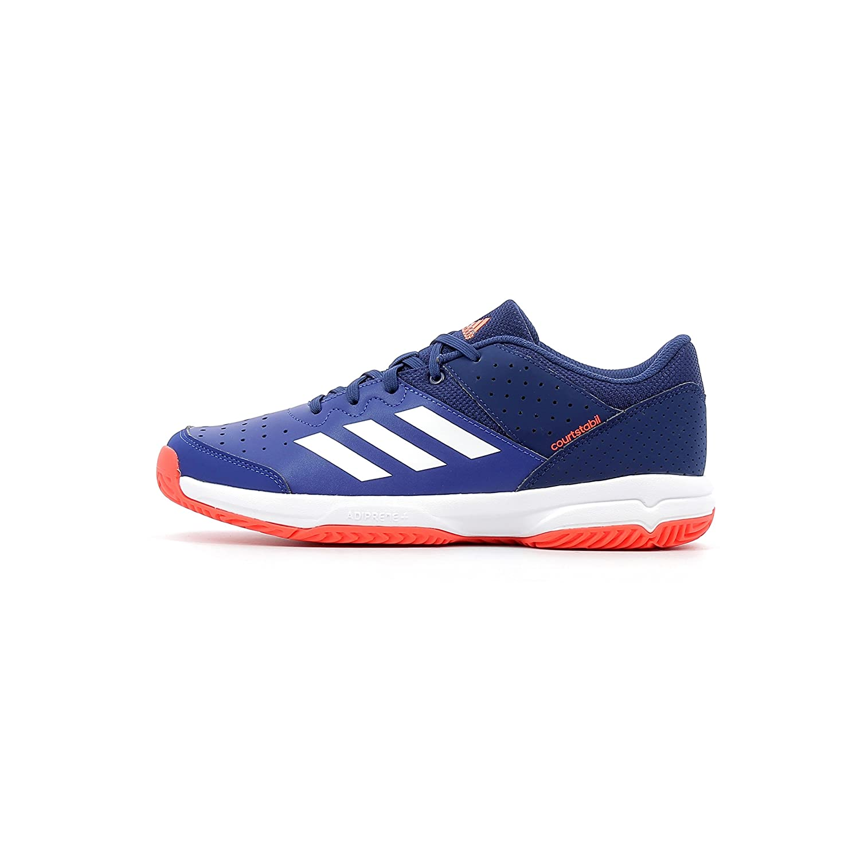 Adidas Court Stabil JR, Zapatillas de Balonmano Unisex Adulto, (Tinmis/Ftwbla/Azuosc 000), 38 2/3 EU AC7466