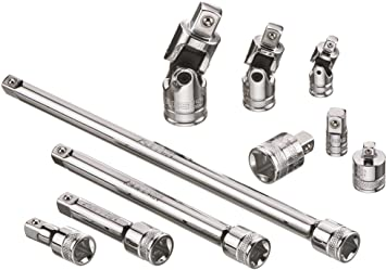 High Speed Steel Ratchet Wrench Socket Adapter Swivel Joint Extension Tools Set