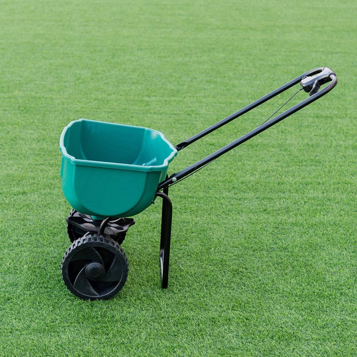 Garden Seeder Push Walk Behind Fertilizer Broadcast Spreader