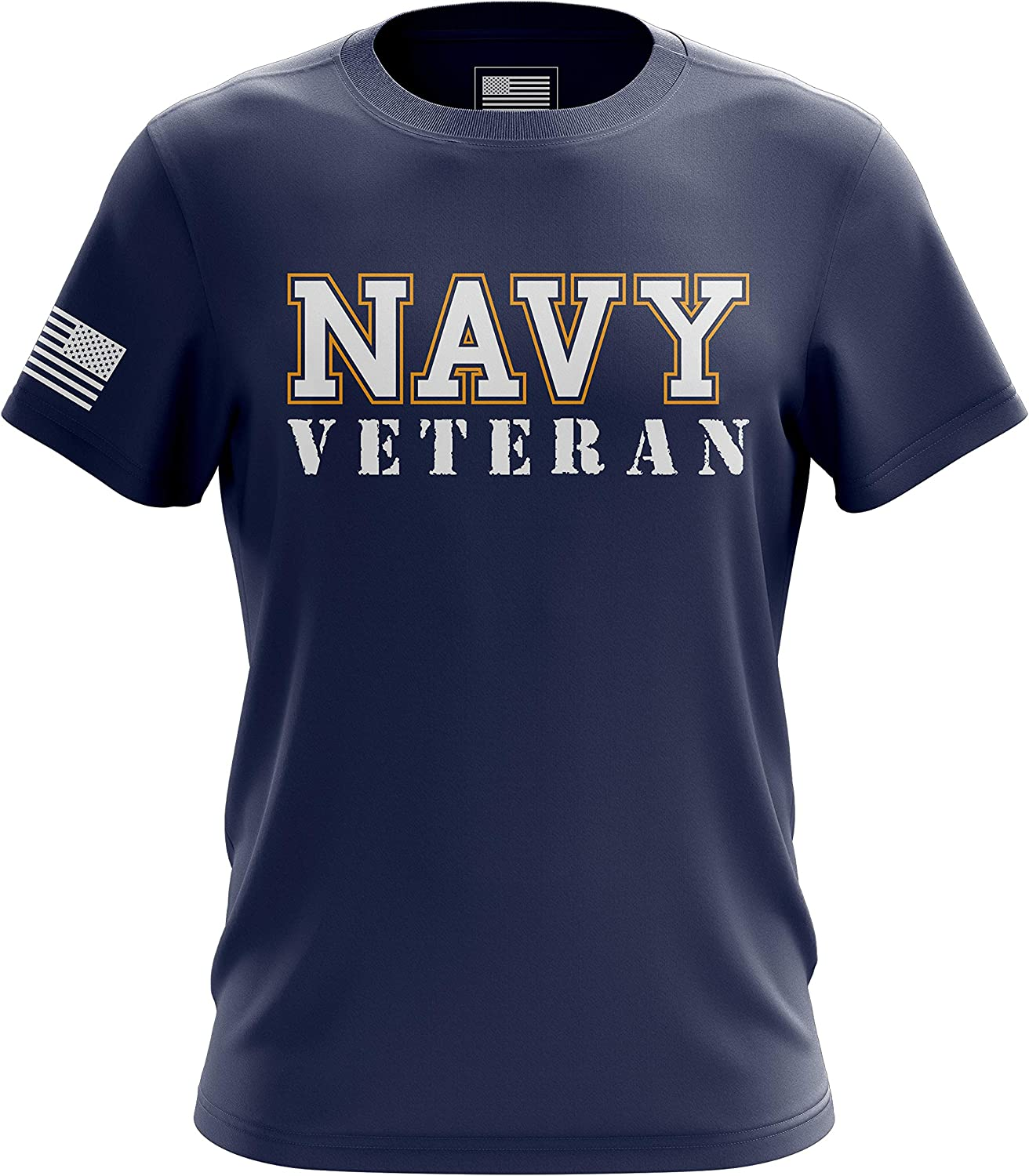 US Navy Veteran American Printed & Packaged in The USA Mens T-Shirt