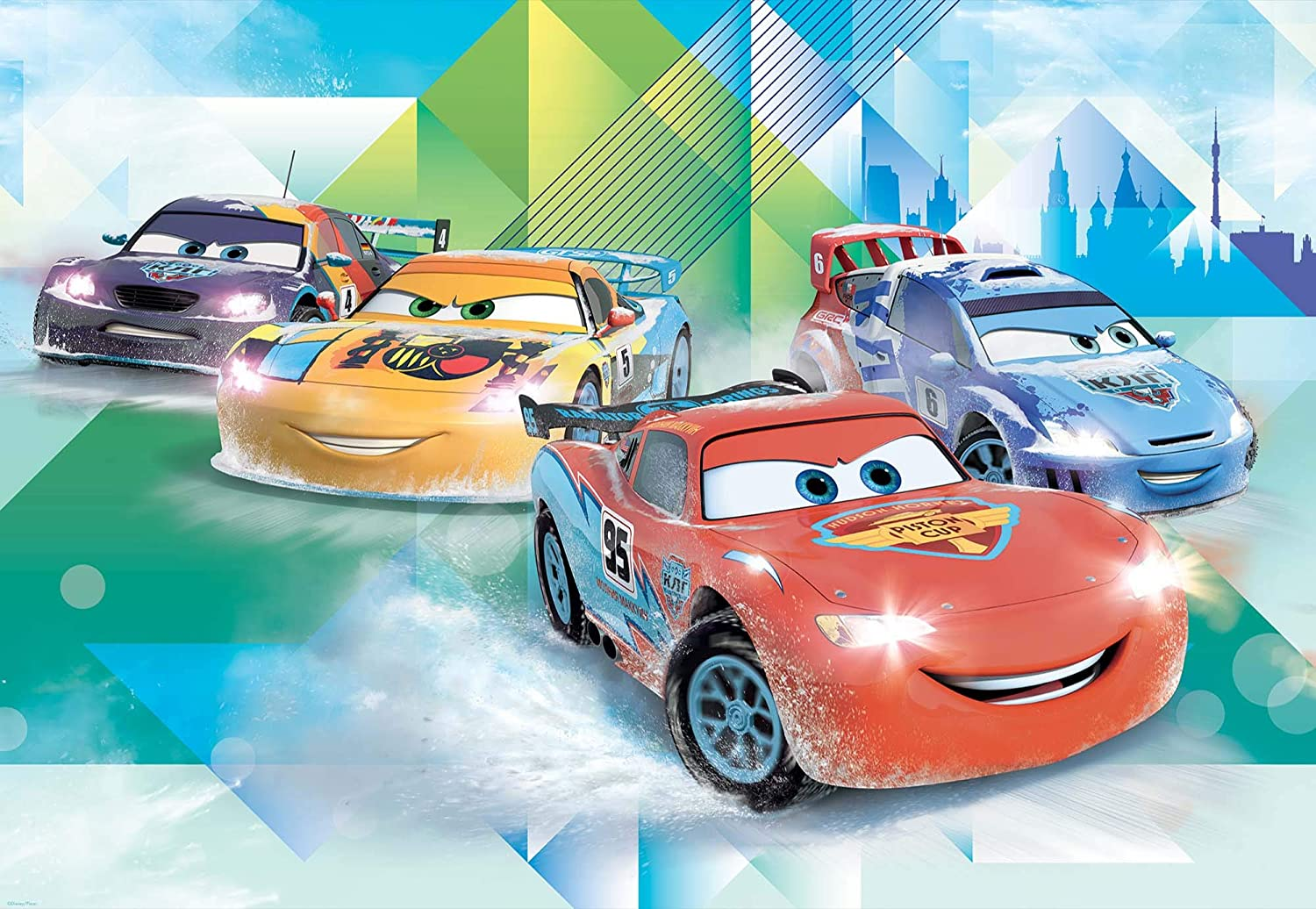 Disney Cars Lightning Mcqueen Camino Photo Wallpaper Wall Mural Giant Wall Poster Xl 254cm X 184cm Standard Paper Not Easyinstall 2