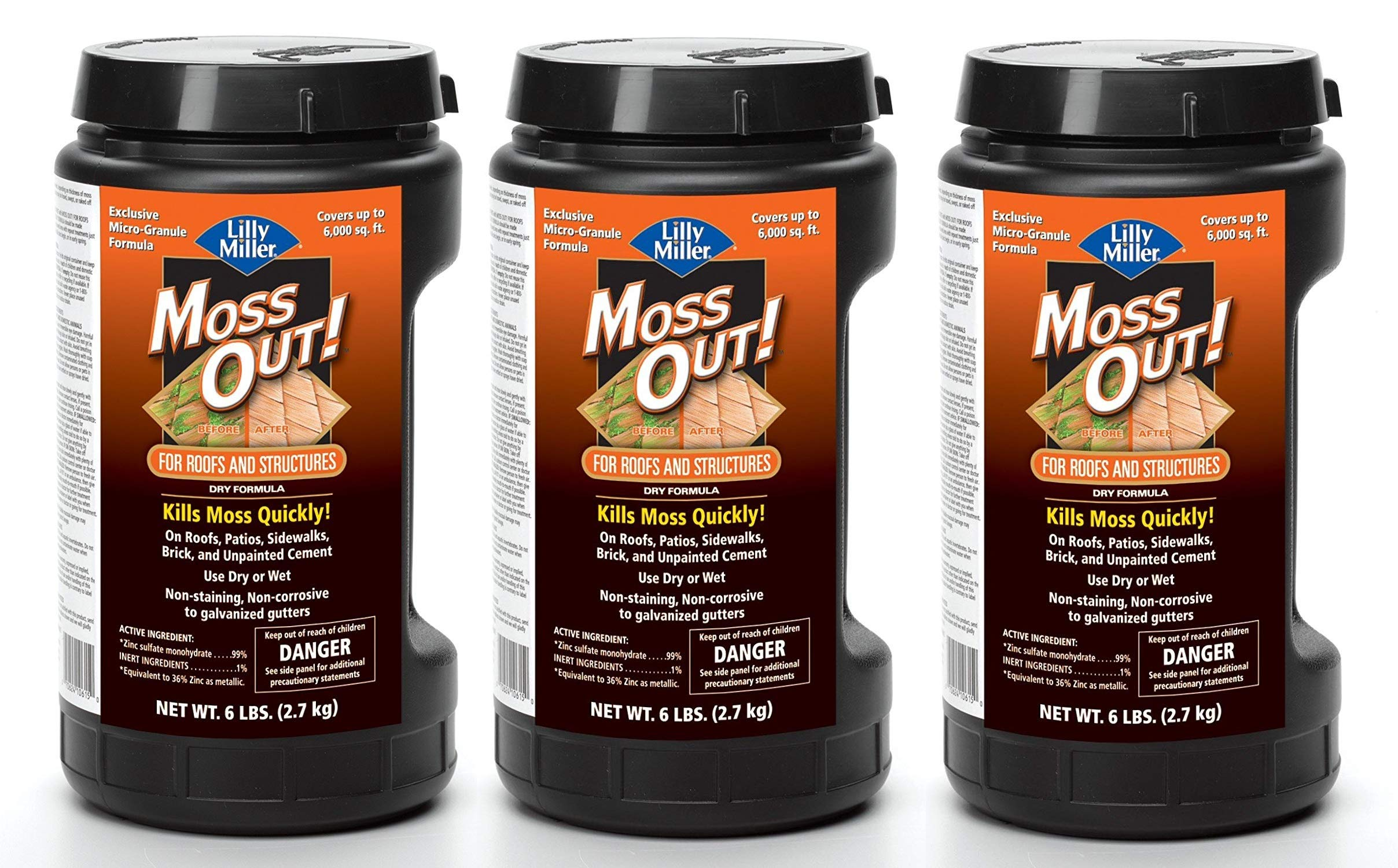 Lilly Miller Moss Out for Roofs and Structures 6lb (3-(Pack))