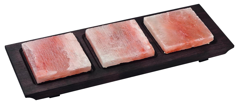 Bisetti BT-99358 - Plato de cocina con base de madera (cuadrado, acabado en wengué), color rosa: Amazon.es: Hogar