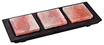 Bisetti BT-99358 - Plato de cocina con base de madera (cuadrado, acabado