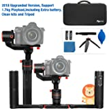 feiyu A1000 3 Axis Handheld Gimbal Stabilizer with Dual Handheld Grip for cameras IC including Extra Batterie and Tripod