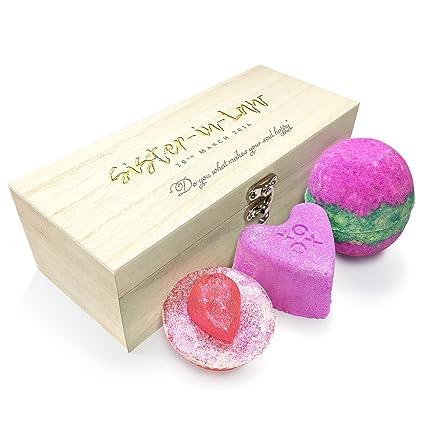 TWISTED ENVY personalizable Happy alma cuñada lujo madera Spa Kit caja colección 1