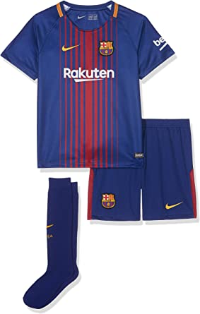 Amazon Com Nike Youth Breathe Fc Barcelona Kit Deep Royal Blue Clothing