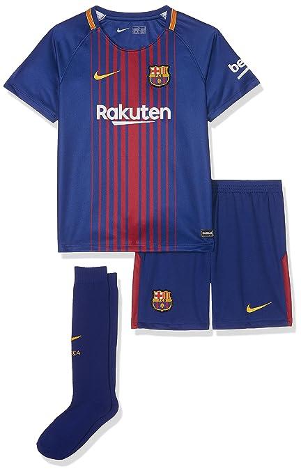 999a97a6941 2017-2018 Barcelona Home Nike Little Boys Mini Kit (with sponsor ...