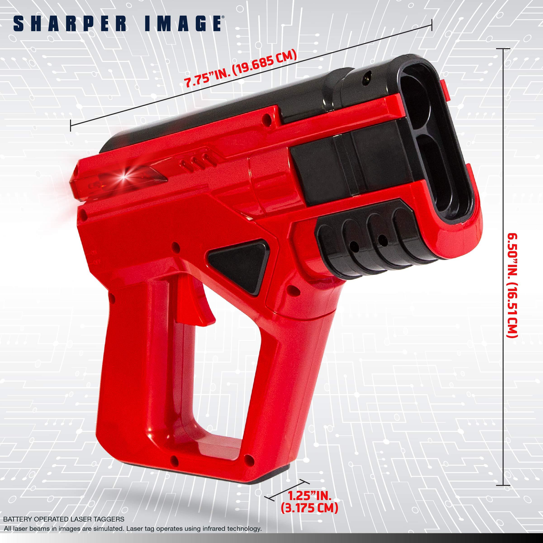 SHARPER IMAGE Two-Player Toy Laser Tag Gun Blaster & Vest Armor Set for Kids, Safe for Children and Adults, Indoor & Outdoor Battle Games, Combine Multiple Sets for Multiplayer Free-for-All! by Sharper Image (Image #5)