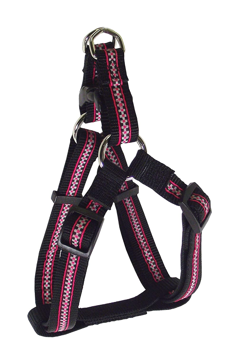 Checks Black 1\ Checks Black 1\ Hamilton Piccadilly Collection Adjustable Easy-On Dog Harness, 1-Inch by 30 to 40-Inch, Checks