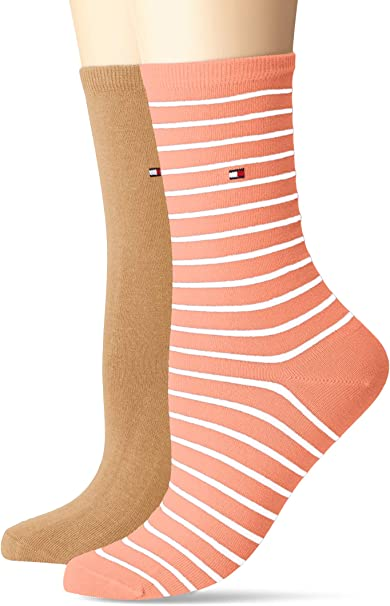 Tommy Hilfiger Calcetines, 100 DEN (Pack de 2) para Mujer: Amazon ...
