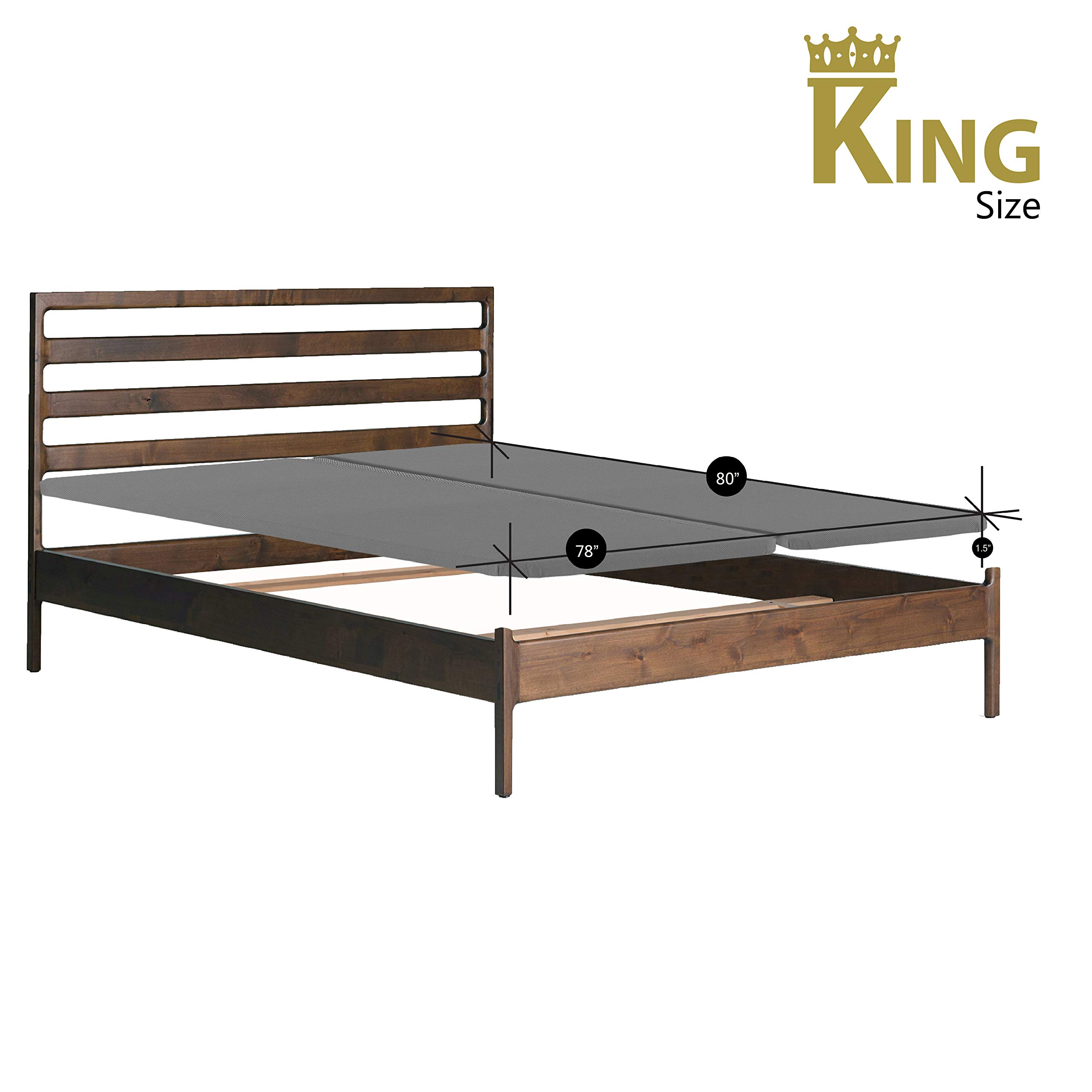 Continental Sleep, 2-Inch Fully Assembled Split Foundation Bunkie Board, |King Size| (2 halves Included) by Mattress Comfort (Image #2)