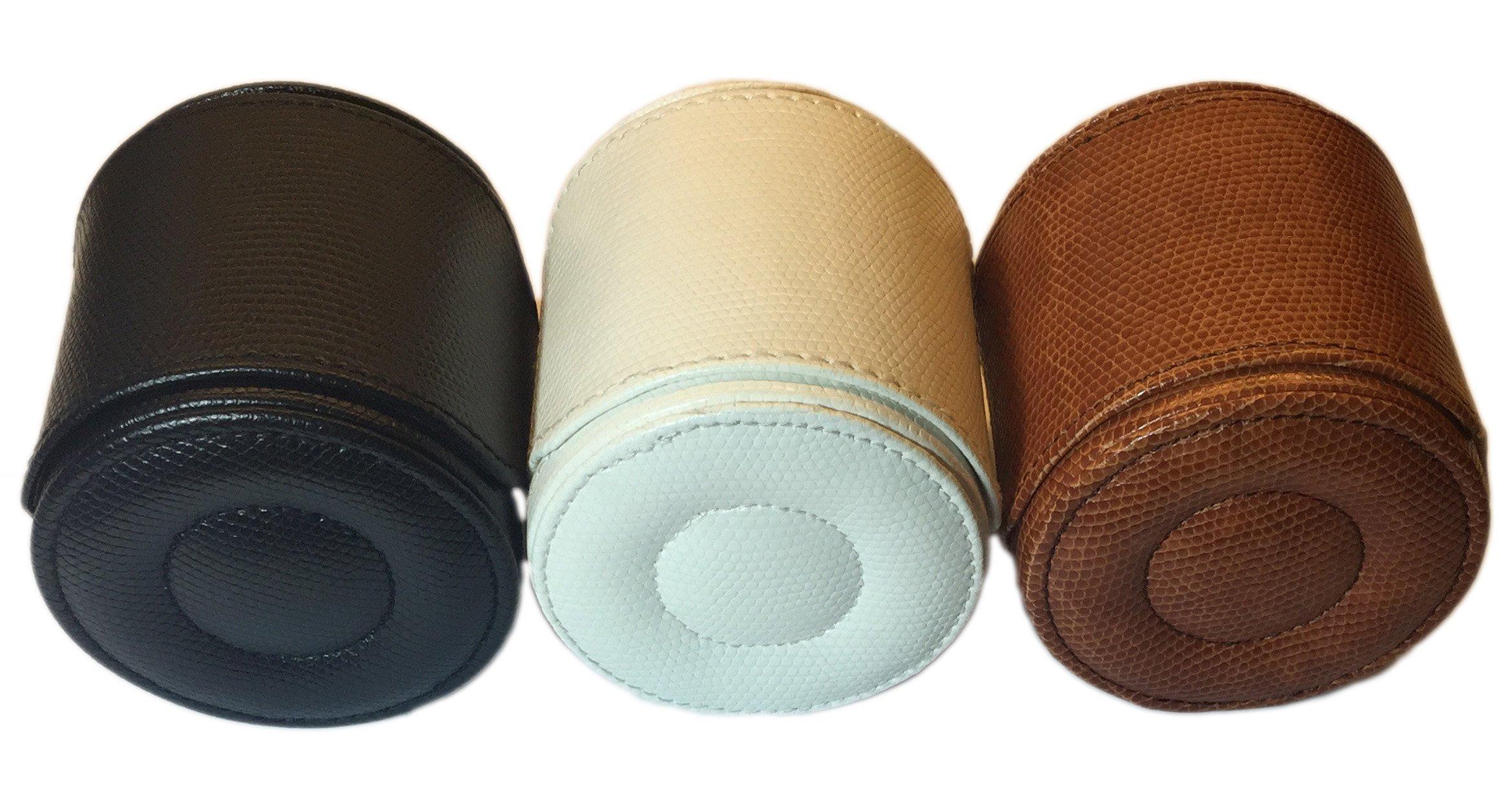 Single Travel Watch Case - Black - Faux Leather