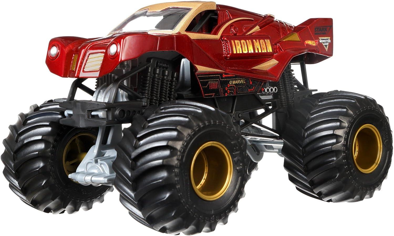 Amazon Com Hot Wheels Monster Jam 1 24 Die Cast Ironman Vehicle Toys Games