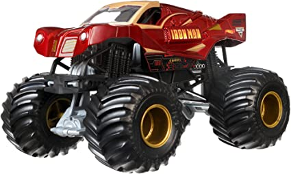 Amazon Com Hot Wheels Monster Jam 1 24 Die Cast Ironman Vehicle Toys Games