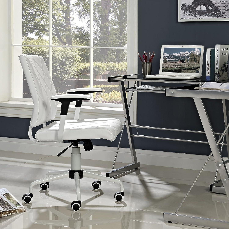 Amazon Modway Lattice Vinyl fice Chair White Kitchen & Dining