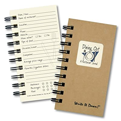 Dining Out, A Restaurant Journal - MINI Kraft Hard Cover (prompts on every page, SPACE FOR 80 RESTAURANTS! recycled paper, read more...): Office Products