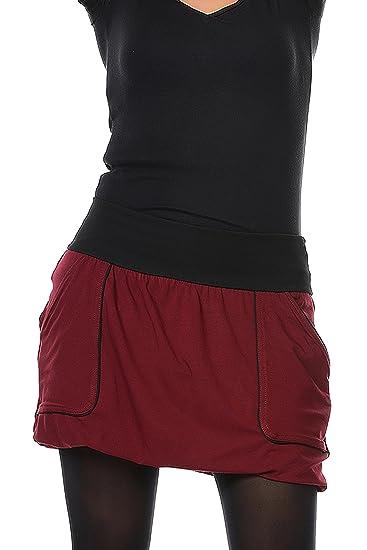 d7a5b3afebdf 3Elfen Summer Short Mini Balloon Skirt wiht pookets Womans Ladies Steampunk  Gothic - Plus Size Fashion Bordeaux 4XL  Amazon.co.uk  Clothing
