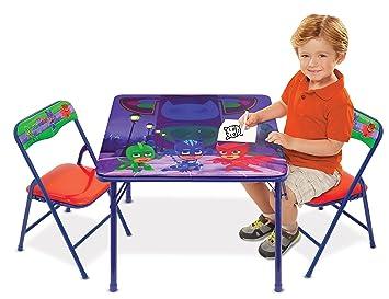 Amazon.com: PJ Masks Superhero Team Activity Table Set with 2 Chairs ...