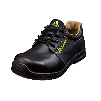 Soletec Men's SuperIron Steel Toe EH Industrial and Construction Shoe Puncture Proof Real Leather (8 M, Black): Shoes