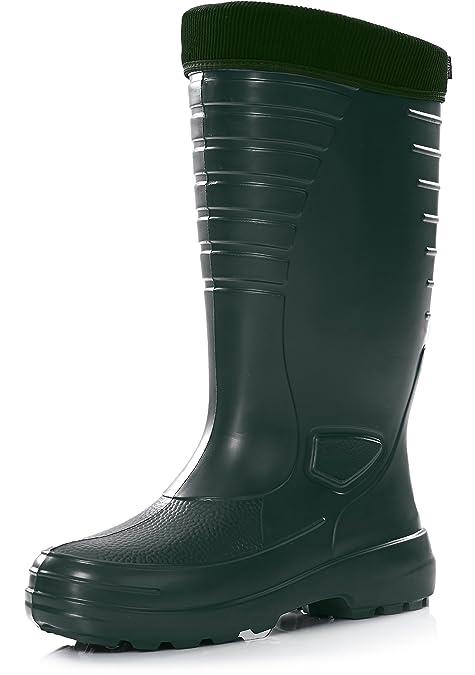 Ladeheid Botas de Goma Muy Ligeras Antideslizantes Zapatos de Seguridad Hombre LA-862 (Verde