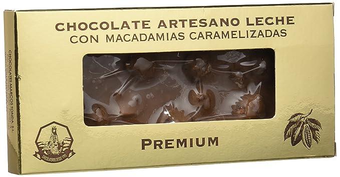Chocolates Marcos Tonda Chocolate Artesano Leche Macadamias Caramelizadas - 2 Paquetes de 200 gr - Total