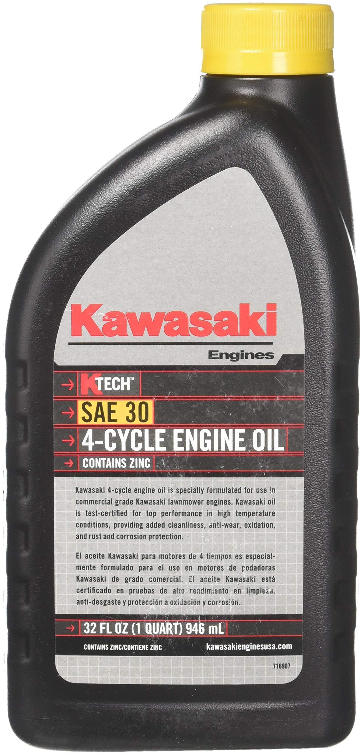 Kawasaki 12PK Genuine 4-Cycle Engine Oil 1QT Bottle SAE 30 K-Tech 99969-6281 by Kawasaki