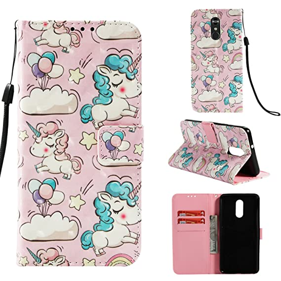new arrival 3b3bd fc9d9 StarCity Case for LG Stylo 4/LG Q Stylus, 3D PU Leather Wallet Case Flip  Phone Case Cover with Card Slots, Full Body Protective Case For LG Q Stylo  ...