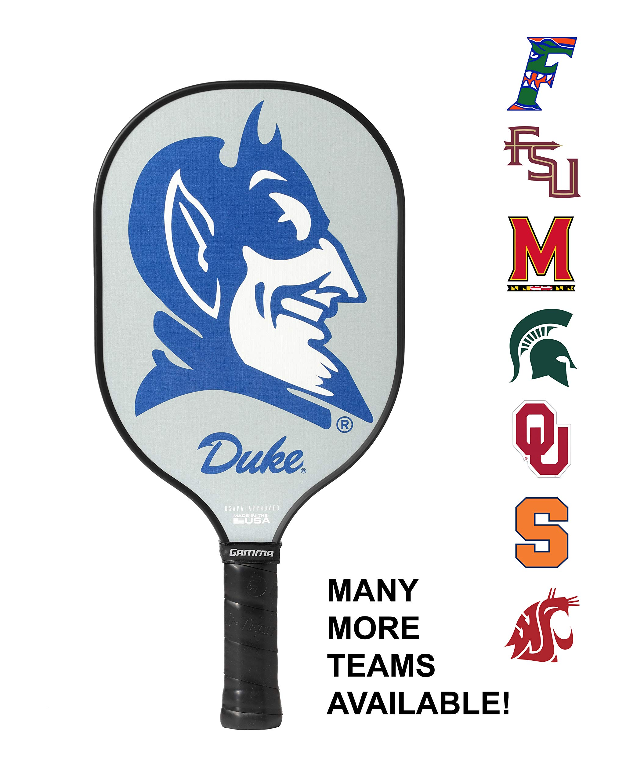 Gamma Sports Pickle Ball Paddles Twister Duke University USAPA Approved Racquet for Adults & Kids