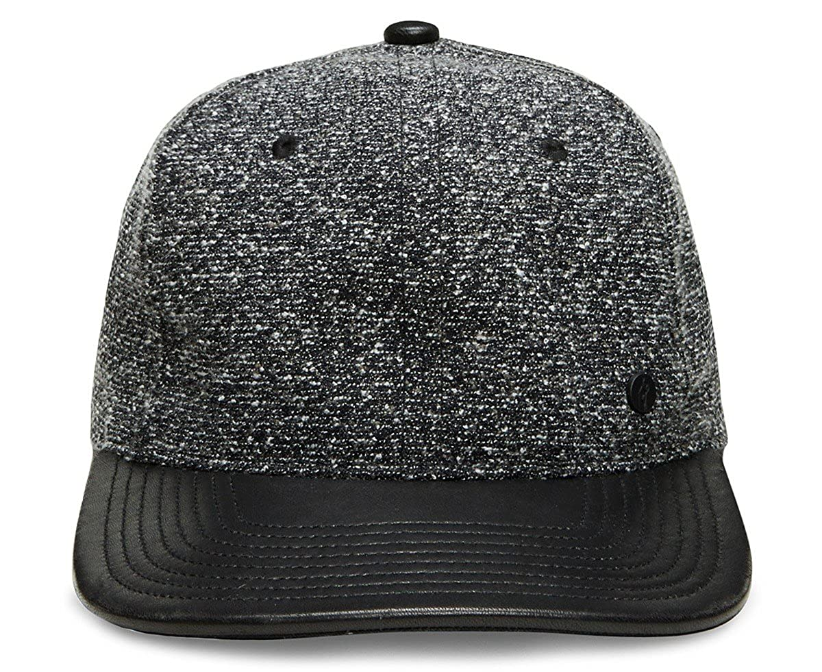 18deaee3c6be60 Gent's Group Men's Victor Marled Baseball Hat with Black Leather Brim,  Charcoal Gray at Amazon Men's Clothing store: