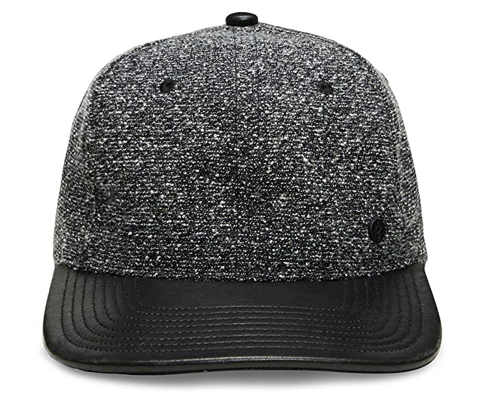 9b7716827740f1 Image Unavailable. Image not available for. Color: Gent's Group Men's  Victor Marled Baseball Hat with Black Leather ...