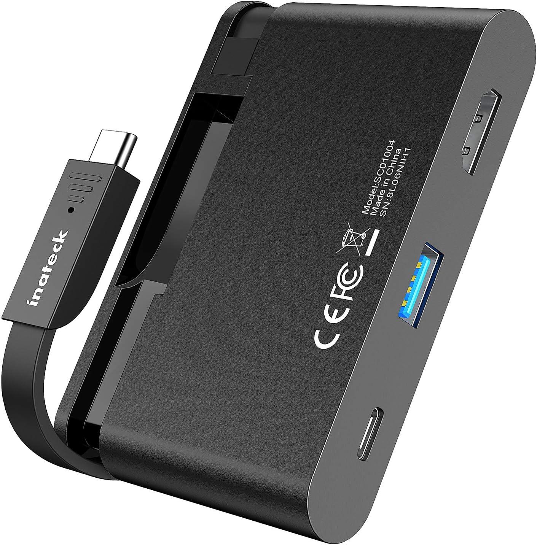 Puerto Power Delivery 100W HDMI 4K y Puerto USB 3.0 SC01004 Inateck Hub USB C Adaptador con Cable Integrado