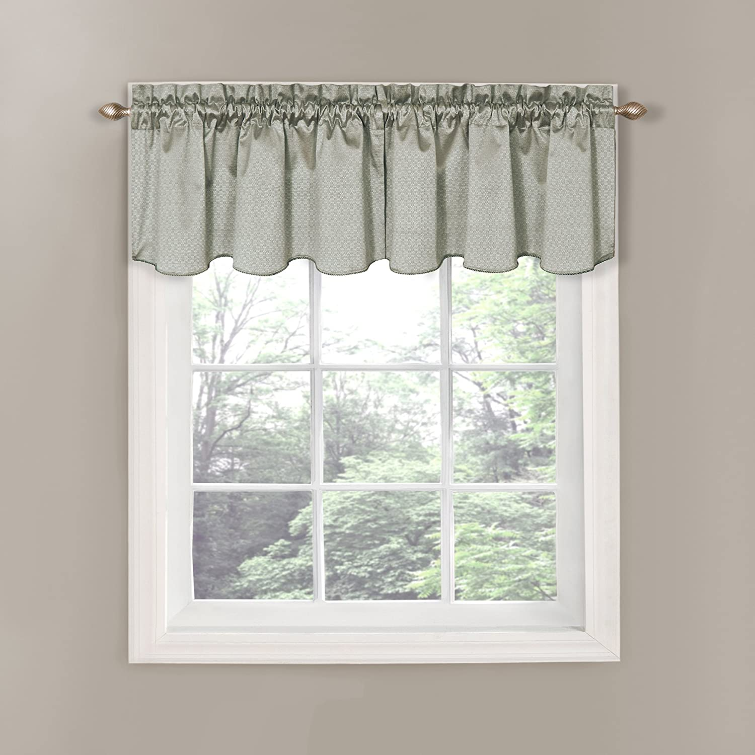Eclipse Canova Blackout Window Valance 42 By 21 Inch Gray